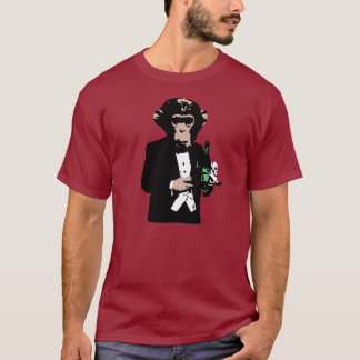 Mayordomo del mono camiseta