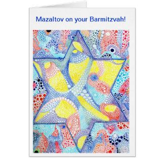 Mazaltov en su Barmitzvah Tarjeta De Felicitación