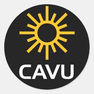 Mazarota soleada CAVU de la aviación Etiquetas Redondas