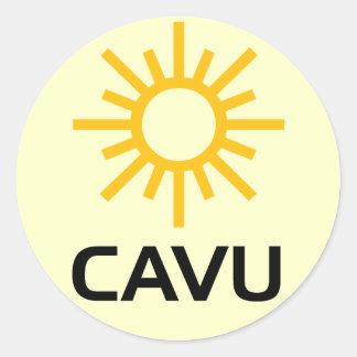 Mazarota soleada CAVU de la aviación Pegatinas Redondas