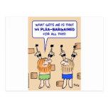 mazmorra de los presos súplica-negociada postales