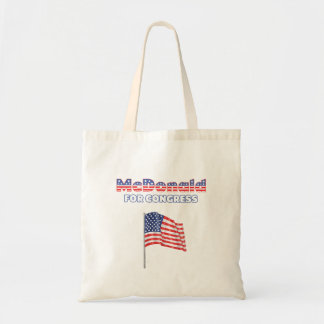 McDonald para la bandera americana patriótica del  Bolsa Tela Barata