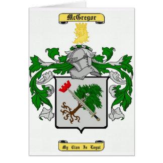 mcgregor tarjeta de felicitación