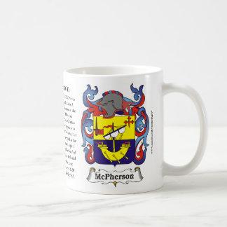 McPherson la historia el significado y el escudo Taza De Café
