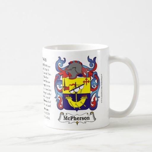 McPherson, la historia, el significado y el escudo Taza De Café
