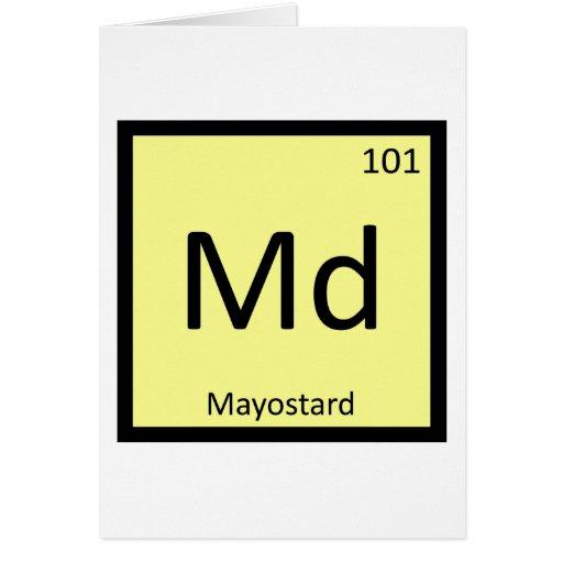 Md - Símbolo de la química de la mostaza de la may Felicitación
