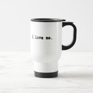 me amo taza de viaje