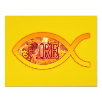 Me ardo para Cristo - símbolo cristiano de los Invitación 10,8 X 13,9 Cm
