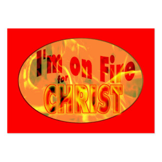 Me ardo para de CRISTO de la zona las tarjetas/ Tarjetas De Visita