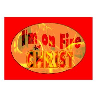 Me ardo para de CRISTO de la zona las tarjetas/ Tarjetas De Visita Grandes