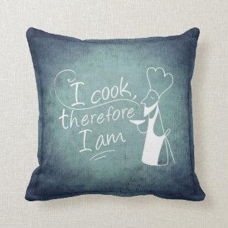 Me cocino por lo tanto soy almohada de tiro