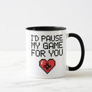 Me detendría brevemente mi juego para usted taza