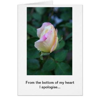 Me disculpo por su falta de consideración tarjeta de felicitación