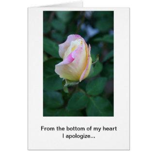 Me disculpo por su falta de la consideración (los tarjeta de felicitación