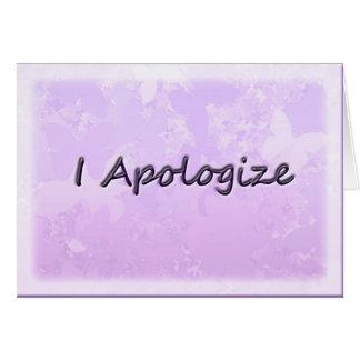 Me disculpo felicitacion