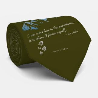 Me nunca pierden en las montañas, él soy donde… corbatas personalizadas
