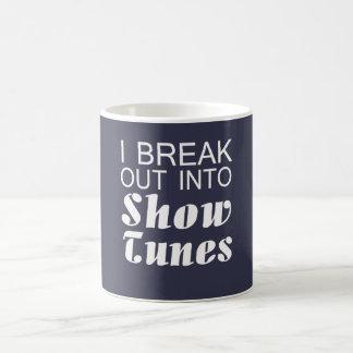 Me rompo en tonos de la demostración taza de café