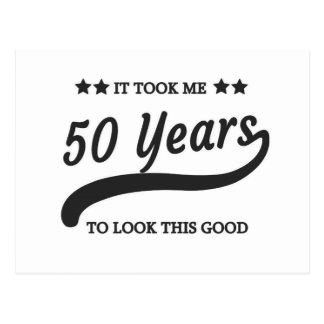 Me tardó 50 años de cumpleaños postal