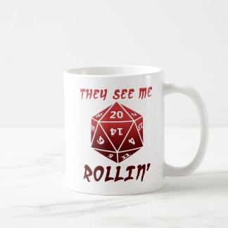 Me ven taza divertida de Rollin