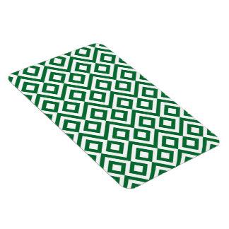 Meandro verde y blanco imanes de vinilo