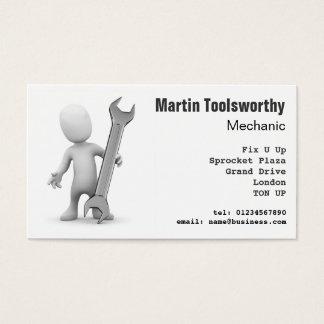 mecánico 3d, reparación e ingeniería tarjeta de visita