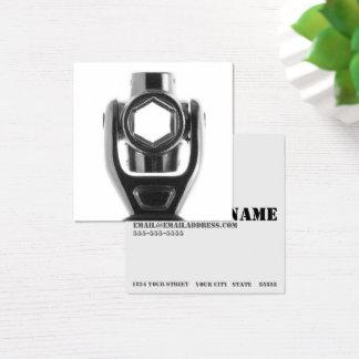 Mecánico cuadrado de la llave de zócalo y negocio tarjeta de visita cuadrada