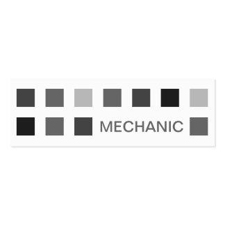 MECÁNICO (cuadrados de la MOD) Tarjetas De Visita Mini