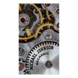 Mecánico de automóviles de acero masculino único tarjetas de visita