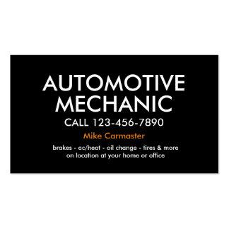 Mecánico de automóviles intrépido simple tarjetas de visita