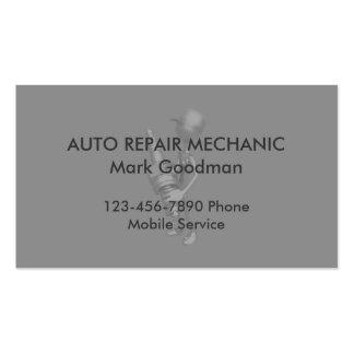 Mecánico de automóviles simple tarjetas de visita