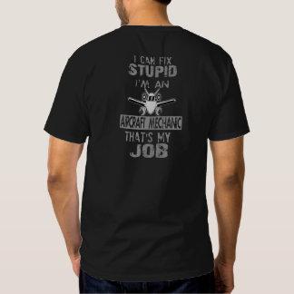 Mecánico de aviones camisetas