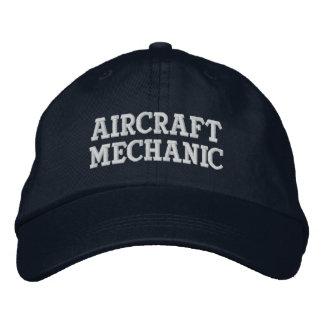 Mecánico de aviones gorra de beisbol