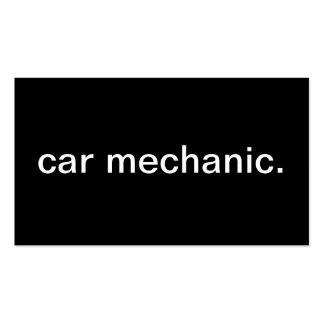 Mecánico de coche tarjetas de visita