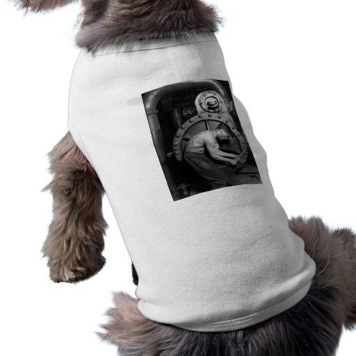 Mecánico de la bomba de vapor de Steampunk Camiseta Sin Mangas Para Perro
