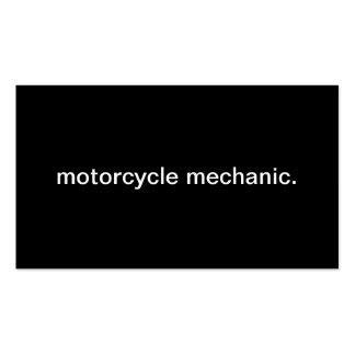 Mecánico de la motocicleta tarjetas de visita
