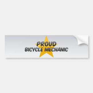 Mecánico orgulloso de la bicicleta pegatina de parachoque