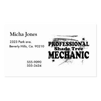 Mecánico profesional del árbol de sombra tarjetas de visita