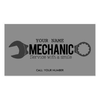 Mecánico - servicio con una sonrisa tarjetas de visita