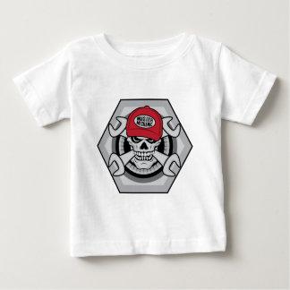 Mecánico Skull-01 Camiseta De Bebé