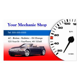 Mecánico/tarjeta de visita auto del cuerpo