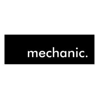 mecánico tarjetas de visita mini