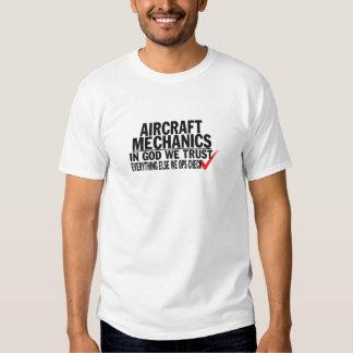 Mecánicos de aviones camiseta