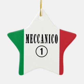 Mecánicos italianos: Uno de Meccanico Numero Adorno De Cerámica En Forma De Estrella