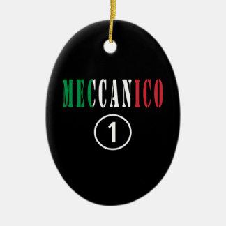 Mecánicos italianos: Uno de Meccanico Numero Adorno Ovalado De Cerámica