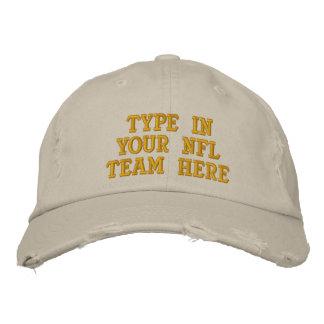 Mecanografíe adentro su equipo del NFL aquí Gorras Bordadas