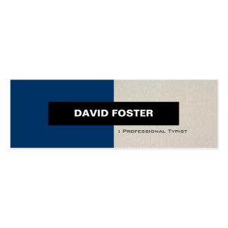 Mecanógrafo profesional - elegante elegante simple plantilla de tarjeta de visita