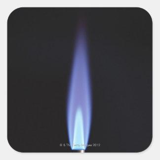 Mechero de gas pegatinas cuadradas personalizadas