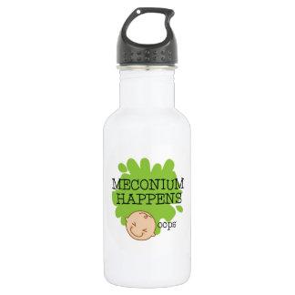 Meconium sucede botella de agua