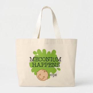 Meconium sucede la bolsa de asas de la partera