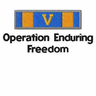 Medalla de aire de OEF con V Sudadera Encapuchada